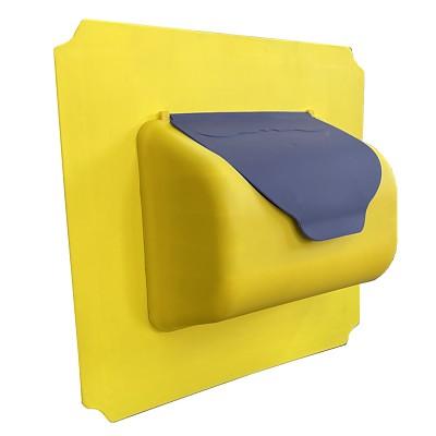 move and stic Platte 40x40 cm incl. Briefkasten , Farben können gewählt werden