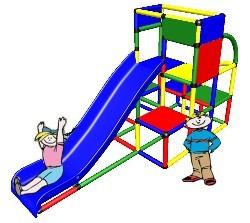 Moveandstic Timm - Turm mit Rutsche