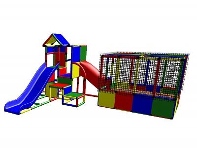 Moveandstic Charlotte - Spielturm mit Bällebad und Rutsche