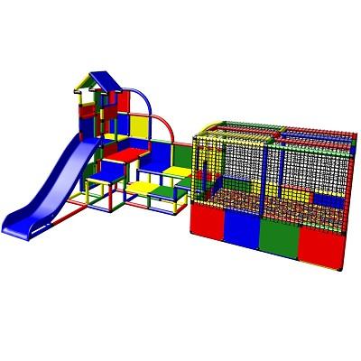 Moveandstic Emma - Großer Spielturm mit Bällebad und Rutsche