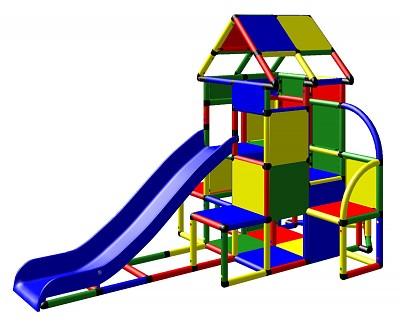 Moveandstic Lisa - Großer Turm mit Rutsche und kleinem Anbau