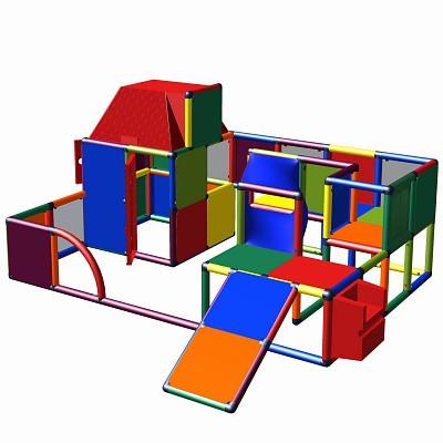 Moveandstic Lara - Spiellandschaft mit Spielhaus und Rutsche