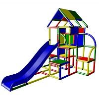 Moveandstic Laura - Großer Spielturm mit Dach und Rutsche