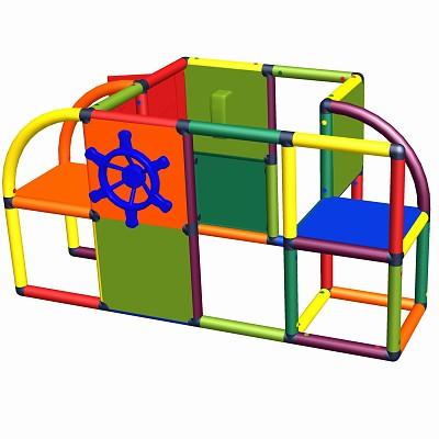 Moveandstic Sven - Spielcenter mit Tür, Lenkrad und Telefon Multicolor