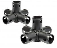 Moveandstic 2er Set Raumkupplung 5-armig, schwarz