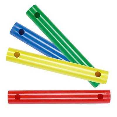 Moveandstic 4er Set Rohr 35 cm, blau, grün, gelb, rot