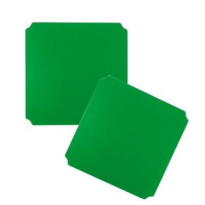 Moveandstic 2er Set Platte 40x40 cm, grün