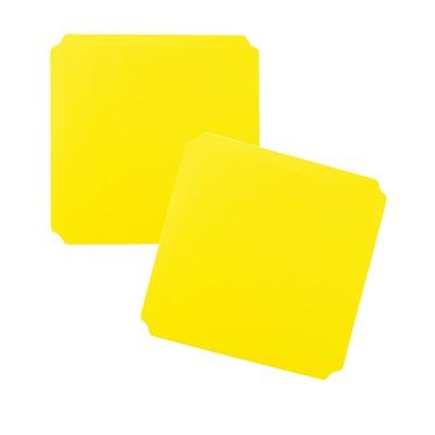 Moveandstic 2er Set Platte 40x40 cm, gelb