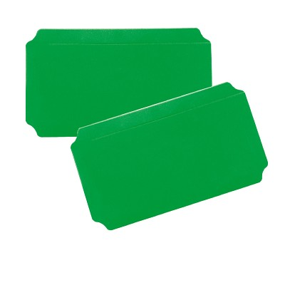 Moveandstic 2er Set Platte 20x40 cm, grün