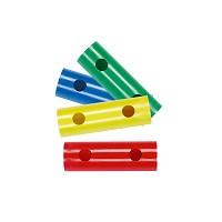 Moveandstic 4er-Set Rohr 15 cm, grün, blau, gelb, rot