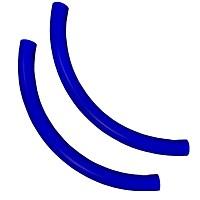 Moveandstic 2er Set Rohrbogen, blau