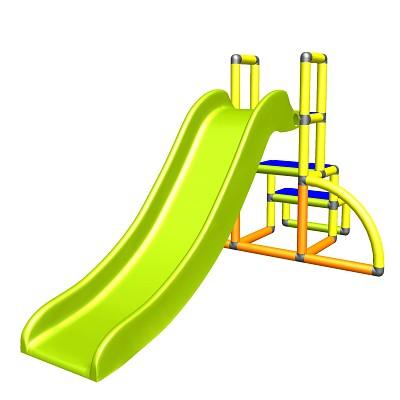 my first Slide Alma Meine erste Rutsche gelb orange apfelgruen Babyrutsche mit Einstiegsset Easy Gartenrutsche MAS Kinderrutsche