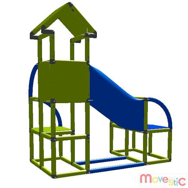 Moveandstic Rohrbogen magenta Kletterturm Bogenrohr Spielturm Klettergerüst rot
