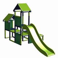 Spielturm Gesa - Kletterturm für Kleinkinder mit Ru..