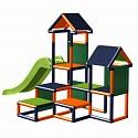 Spielturm Gesa - Kletterturm für Kleinkinder mit Rutsche und Stoffeinsätzen, orange/titangrau