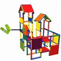 Move and stic - Spiel- und Kletterburg Franz mit Funktionsplatte Telefon in multicolor