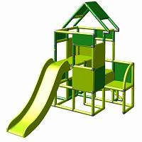 Moveandstic Lisa - Großer Turm mit Rutsche in apfelgrün/grün