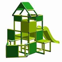 Lisa - Großer Turm mit Rutsche in apfelgrün/grün