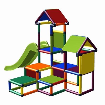Spielturm Gesa - Kletterturm für Kleinkinder mit Rutsche , multicolor