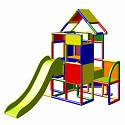 Moveandstic Lisa - Großer Turm mit Rutsche, multicolor