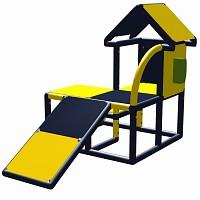 Moveandstic Kletter-Kuno mit Telefon-Funktionsplatte Gelb/Titangrau