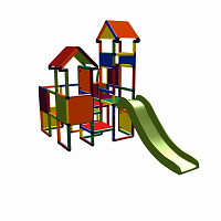 Moveandstic Moritz multicolor - Spielburg mit Rutsche