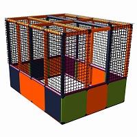 Moveandstic Lucy - Ballcenter - orange-magenta-titangrau-apfelgrün