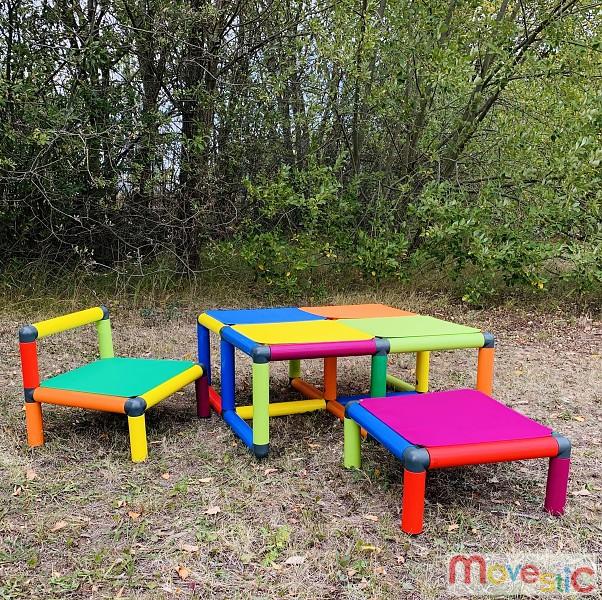 Moveandstic Kleinkind Sitzgruppe Vanny Tisch, Stuhl und