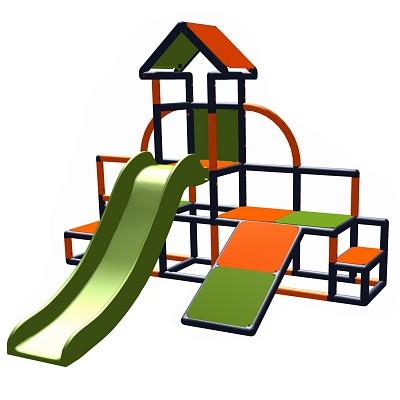 Moveandstic Charlin-Spiellandschaft Charlin Turm mit Rutsche und Schräge
