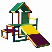 Moveandstic Nemo - Spielhaus mit Rutsche und Stoffeinsätzen