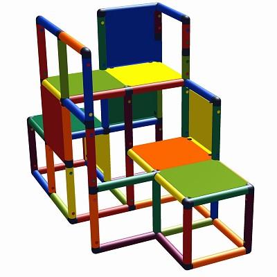 Moveandstic Kletter-Max - Kletterpodest Multicolor