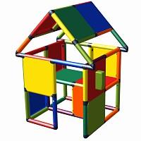 Moveandstic Monte - Spielhaus mit Spieltelefon multicolor