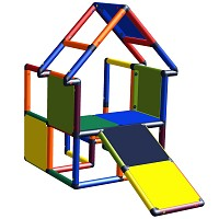 Moveandstic Noel - Haus mit Kleinkindschräge Multicolor
