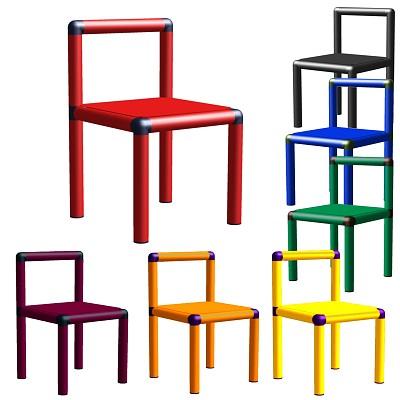 Moveandstic-Stuhl in verschiedenen Farben
