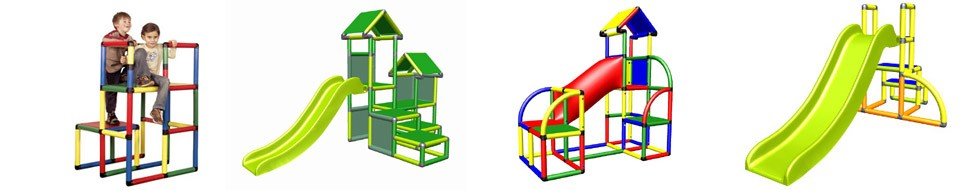 Moveandstic Young, Spielturm, Röhre und Rutsche
